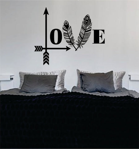 Love Arrows Tribal Feathers Decal Sticker Wall Vinyl Decor Art - boop decals - vinyl decal - vinyl sticker - decals - stickers - wall decal - vinyl stickers - vinyl decals