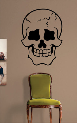 Cool Skull Version 1 Art Decal Sticker Wall Vinyl - boop decals - vinyl decal - vinyl sticker - decals - stickers - wall decal - vinyl stickers - vinyl decals