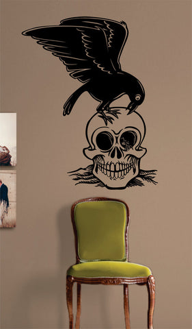 Bird and Skull Design Art Decal Sticker Wall Vinyl - boop decals - vinyl decal - vinyl sticker - decals - stickers - wall decal - vinyl stickers - vinyl decals