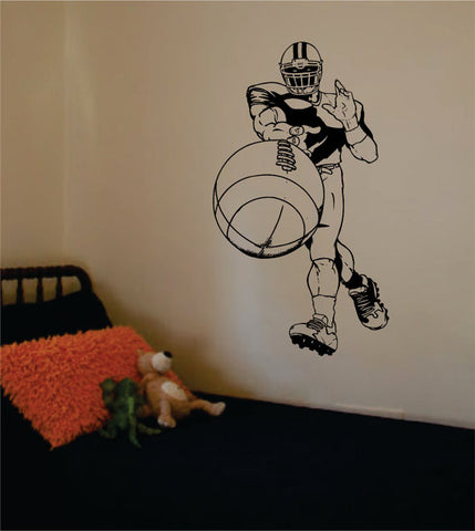 Player Throwing Football Sports Decal Sticker Wall Vinyl