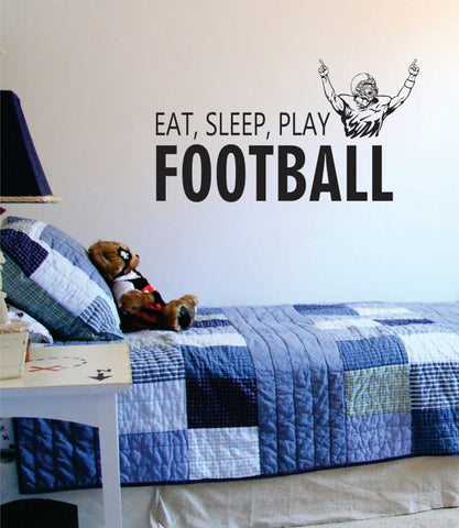 Eat Sleep Play Football Version 1 Sports Decal Sticker Wall Vinyl - boop decals - vinyl decal - vinyl sticker - decals - stickers - wall decal - vinyl stickers - vinyl decals