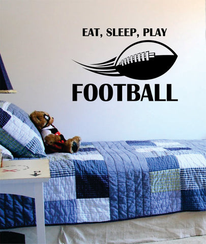Eat Sleep Play Football Version 2  Sports Decal Sticker Wall Vinyl - boop decals - vinyl decal - vinyl sticker - decals - stickers - wall decal - vinyl stickers - vinyl decals