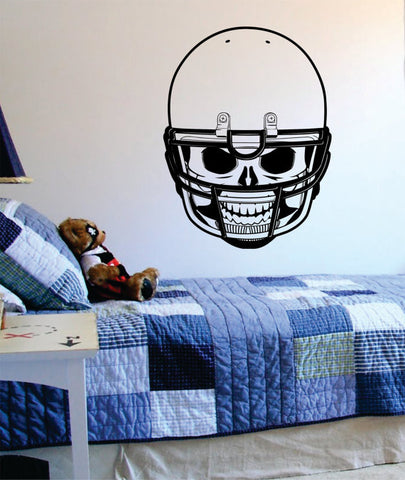 Football Skull Helmet Art Decal Sticker Wall Vinyl - boop decals - vinyl decal - vinyl sticker - decals - stickers - wall decal - vinyl stickers - vinyl decals