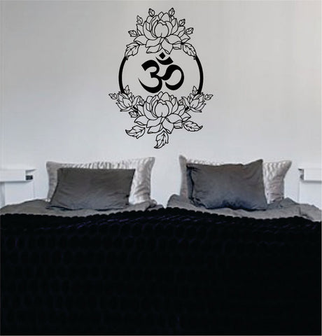 Beautiful Flowers and OM Design Decal Sticker Wall Vinyl - boop decals - vinyl decal - vinyl sticker - decals - stickers - wall decal - vinyl stickers - vinyl decals