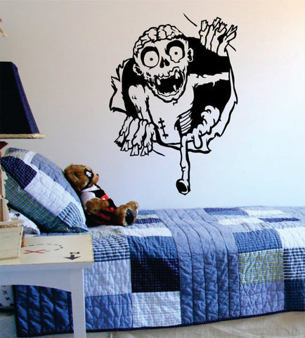 Zombie Ripping Through the Wall Design Decal Sticker Wall Vinyl Art Home Room Decor - boop decals - vinyl decal - vinyl sticker - decals - stickers - wall decal - vinyl stickers - vinyl decals