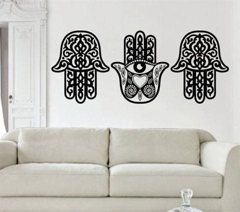3 Hamsa Hands SPECIAL DEAL Decal Sticker Wall Vinyl - boop decals - vinyl decal - vinyl sticker - decals - stickers - wall decal - vinyl stickers - vinyl decals
