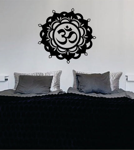 Mandala OM Version 6 Decal Sticker Wall Vinyl - boop decals - vinyl decal - vinyl sticker - decals - stickers - wall decal - vinyl stickers - vinyl decals