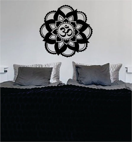 Mandala OM Version 7 Decal Sticker Wall Vinyl - boop decals - vinyl decal - vinyl sticker - decals - stickers - wall decal - vinyl stickers - vinyl decals