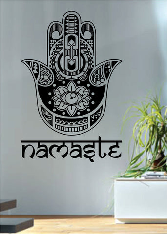 Namaste Hamsa Hand Version 2 Decal Sticker Wall Vinyl - boop decals - vinyl decal - vinyl sticker - decals - stickers - wall decal - vinyl stickers - vinyl decals