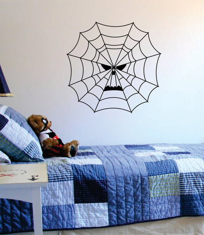 Spiderweb Skull Art Decal Sticker Wall Vinyl - boop decals - vinyl decal - vinyl sticker - decals - stickers - wall decal - vinyl stickers - vinyl decals