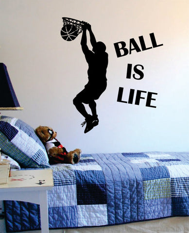 Ball Is Life Version 2 Basketball Court Sports Decal Sticker Wall Vinyl - boop decals - vinyl decal - vinyl sticker - decals - stickers - wall decal - vinyl stickers - vinyl decals