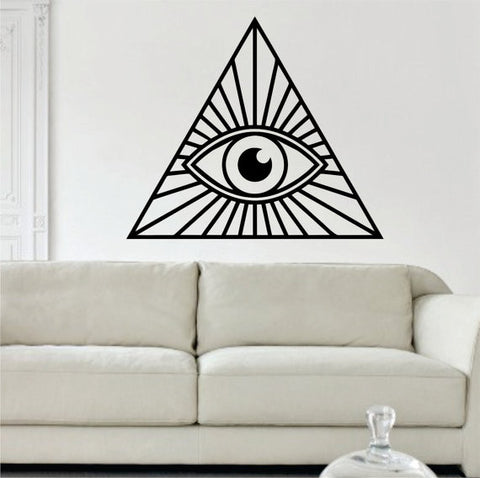 All Seeing Eye Illuminati Design Decal Sticker Wall Vinyl Decor Art - boop decals - vinyl decal - vinyl sticker - decals - stickers - wall decal - vinyl stickers - vinyl decals