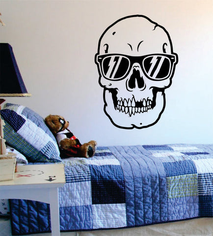 Skull with Sunglasses Art Decal Sticker Wall Vinyl - boop decals - vinyl decal - vinyl sticker - decals - stickers - wall decal - vinyl stickers - vinyl decals