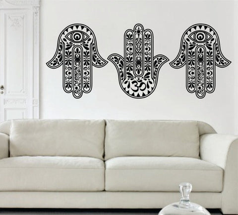 3 Hamsa Hands Version 2 SPECIAL DEAL Decal Sticker Wall Vinyl - boop decals - vinyl decal - vinyl sticker - decals - stickers - wall decal - vinyl stickers - vinyl decals