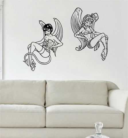 Angel and Devil Pin Up Girls Design Decal Sticker Wall Vinyl Decor Art - boop decals - vinyl decal - vinyl sticker - decals - stickers - wall decal - vinyl stickers - vinyl decals