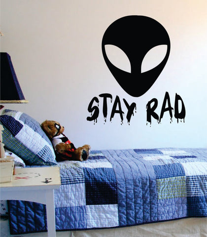 Alien Stay Rad Design Outer Space Decal Sticker Wall Vinyl Art Home Room Decor - boop decals - vinyl decal - vinyl sticker - decals - stickers - wall decal - vinyl stickers - vinyl decals
