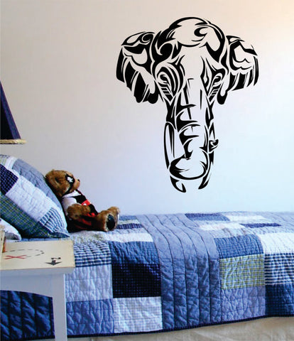 Beautiful Elephant Face Tribal Animal Design Decal Sticker Wall Vinyl Art Decor Home - boop decals - vinyl decal - vinyl sticker - decals - stickers - wall decal - vinyl stickers - vinyl decals