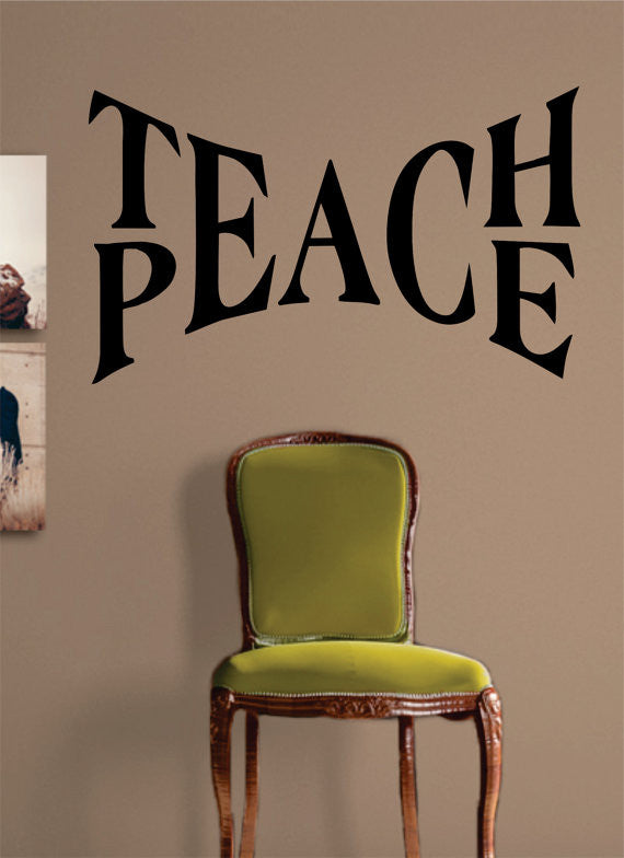 Charmant Teach Peace Quote Decal Sticker Wall Vinyl Decor Art   Boop Decals   Vinyl  Decal
