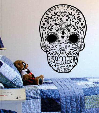 Sugar Skull Version 12 Art Decal Sticker Wall Vinyl