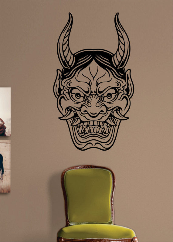 Hannya version 1 japanese tattoo design decal sticker wall vinyl decor art boop decals