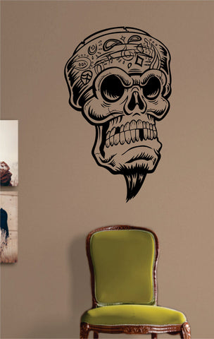 Vato Skull Art Decal Sticker Wall Vinyl - boop decals - vinyl decal - vinyl sticker - decals - stickers - wall decal - vinyl stickers - vinyl decals