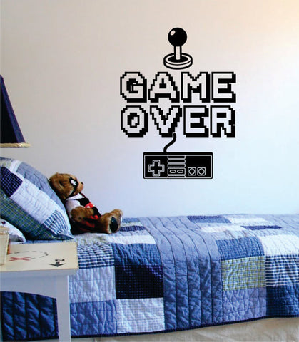 Game Over Version 2 Quote Decal Sticker Wall Vinyl Art Decor - boop decals - vinyl decal - vinyl sticker - decals - stickers - wall decal - vinyl stickers - vinyl decals