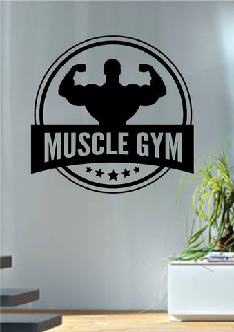 Muscle Gym Fitness Design Decal Sticker Wall Vinyl Art Home Room Decor