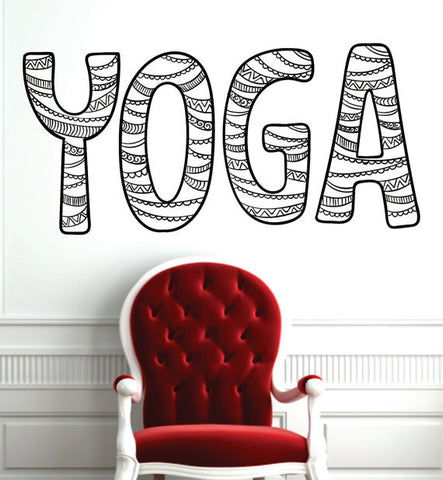 Yoga Word Design Version 1 Decal Sticker Wall Vinyl - boop decals - vinyl decal - vinyl sticker - decals - stickers - wall decal - vinyl stickers - vinyl decals