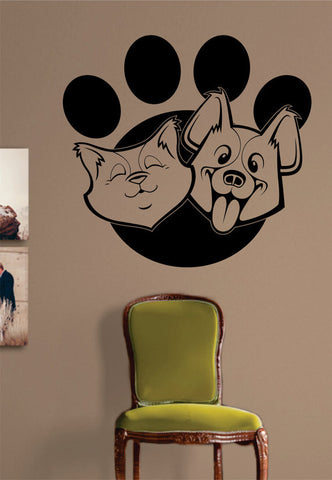 Cat and Dog Paw Print Design Animal Decal Sticker Wall Vinyl Decor Art - boop decals - vinyl decal - vinyl sticker - decals - stickers - wall decal - vinyl stickers - vinyl decals