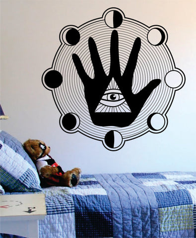 All Seeing Eye Hand Moon Phases Illuminati Design Decal Sticker Wall Vinyl Decor Art - boop decals - vinyl decal - vinyl sticker - decals - stickers - wall decal - vinyl stickers - vinyl decals