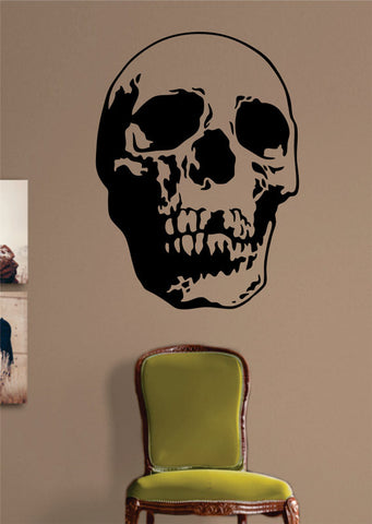 Realistic Skull Art Version 3 Art Decal Sticker Wall Vinyl - boop decals - vinyl decal - vinyl sticker - decals - stickers - wall decal - vinyl stickers - vinyl decals