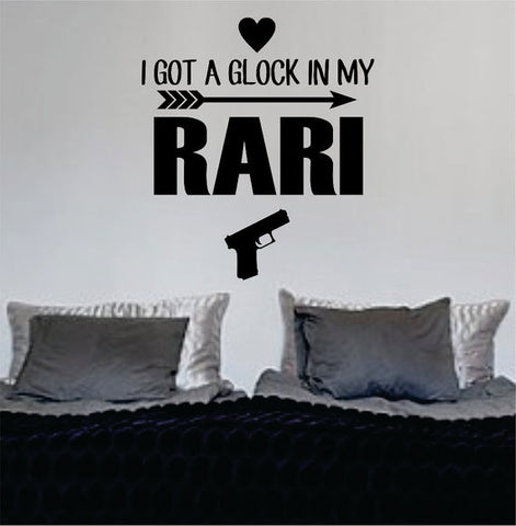 I Got A Glock In My Rari Fetty Wap Version 3 Decal Sticker Wall Vinyl Decor Art - boop decals - vinyl decal - vinyl sticker - decals - stickers - wall decal - vinyl stickers - vinyl decals