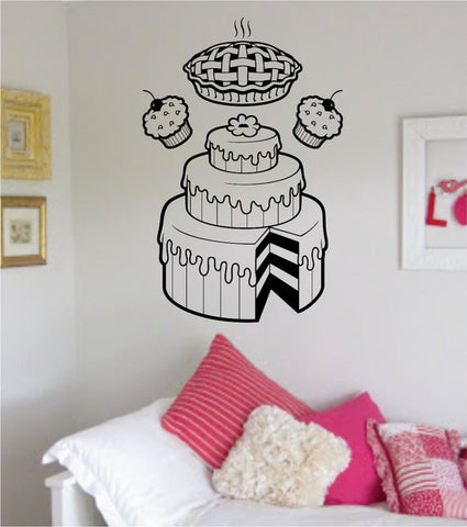 Bakery Cake Pie and Cupcakes Food Design Decal Sticker Wall Vinyl Decor Art - boop decals - vinyl decal - vinyl sticker - decals - stickers - wall decal - vinyl stickers - vinyl decals
