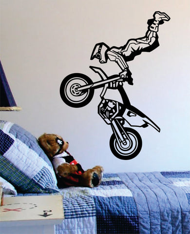 Motocross Trick Dirtbiker Version 2 Design Sports Decal Sticker Wall Vinyl - boop decals - vinyl decal - vinyl sticker - decals - stickers - wall decal - vinyl stickers - vinyl decals