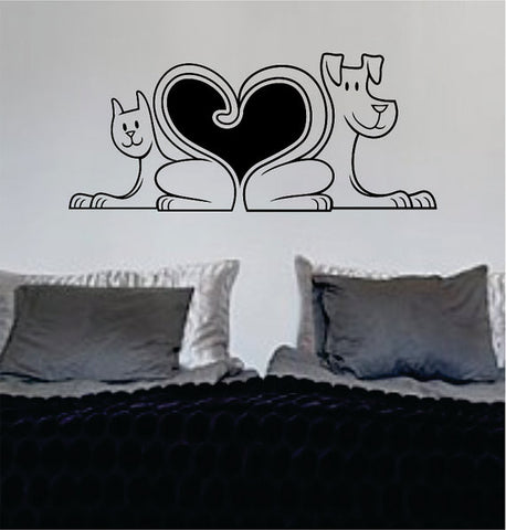 Dog and Cat Tail Heart Design Animal Decal Sticker Wall Vinyl Decor Art - boop decals - vinyl decal - vinyl sticker - decals - stickers - wall decal - vinyl stickers - vinyl decals