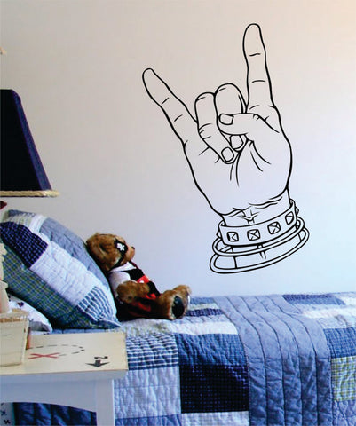 Rock On Music Art Decal Sticker Wall Vinyl - boop decals - vinyl decal - vinyl sticker - decals - stickers - wall decal - vinyl stickers - vinyl decals