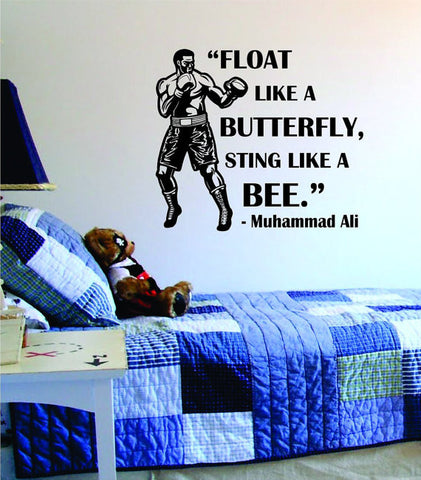 Muhammad Ali Float Like A Butterfly Sting Like A Bee Version 1 Design Sports Decal Sticker Wall Vinyl - boop decals - vinyl decal - vinyl sticker - decals - stickers - wall decal - vinyl stickers - vinyl decals