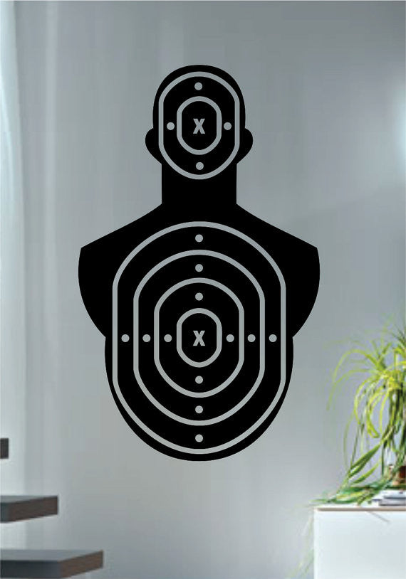 target shooting range version 2 guns decal sticker wall vinyl decor