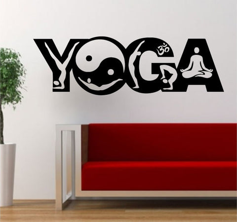 Yoga Word Design Version 3 Decal Sticker Wall Vinyl - boop decals - vinyl decal - vinyl sticker - decals - stickers - wall decal - vinyl stickers - vinyl decals