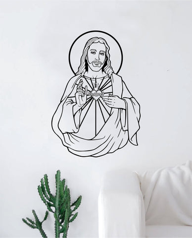 Jesus Christ Decal Sticker Wall Vinyl Art Home Decor Inspirational Kids Nursery Teen Religious God Chuch