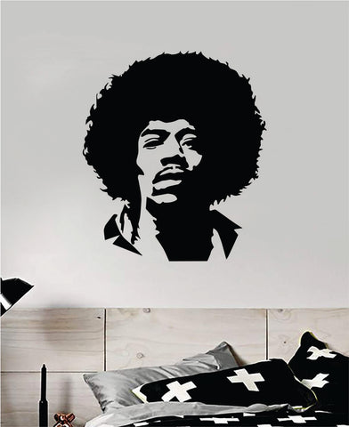 Jimi Hendrix Face Wall Decal Home Decor Vinyl Art Sticker Bedroom Room Teen Music Guitar