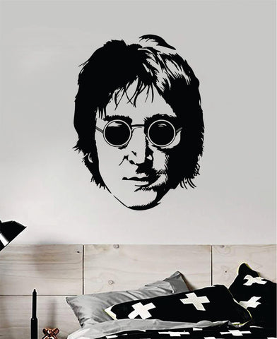 John Lennon Face Wall Decal Home Decor Vinyl Art Sticker Bedroom Room Teen Music The Beatles