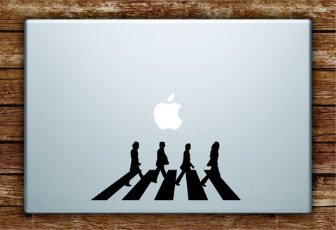 Abbey Road The Beatles Laptop Decal Sticker Vinyl Art Quote Macbook Apple Decor Music John Lennon Paul McCartney