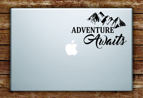 Adventure Awaits v3 Laptop Decal Sticker Vinyl Art Quote Macbook Apple Decor Quote Travel Wanderlust