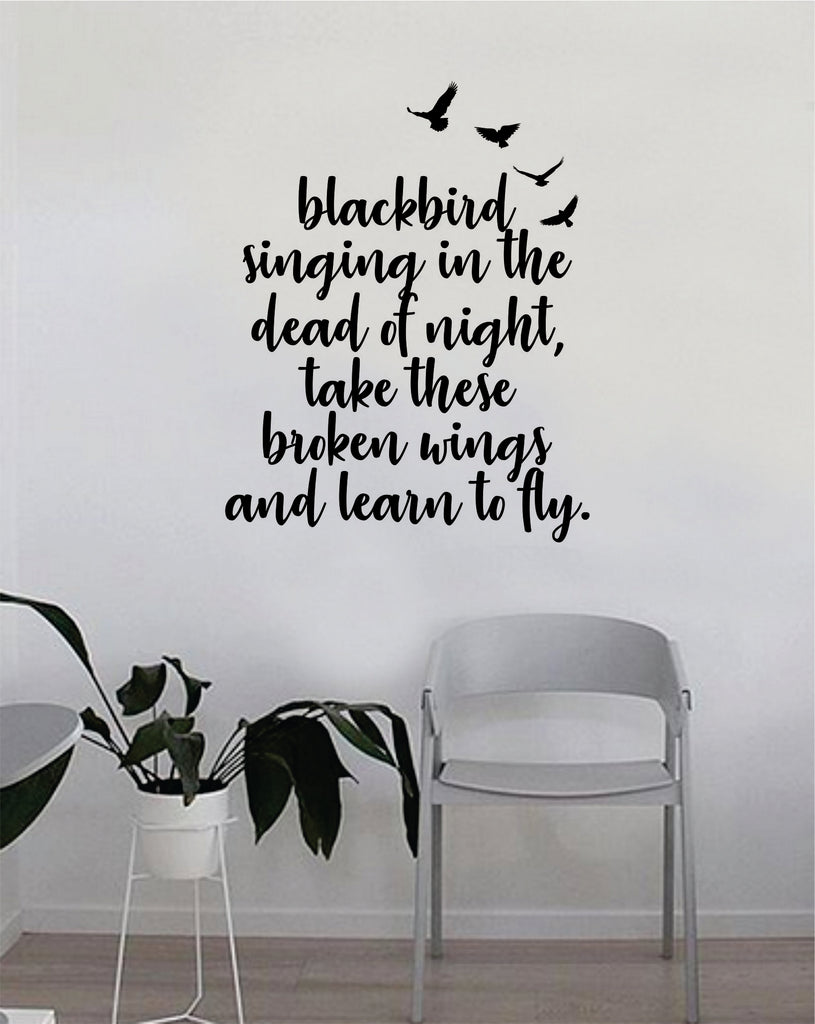 Learn to Fly V2 Quote Wall Decal Sticker Vinyl Room Art Bedroom Decor Decoration Teen Music : beatles wall decals - www.pureclipart.com