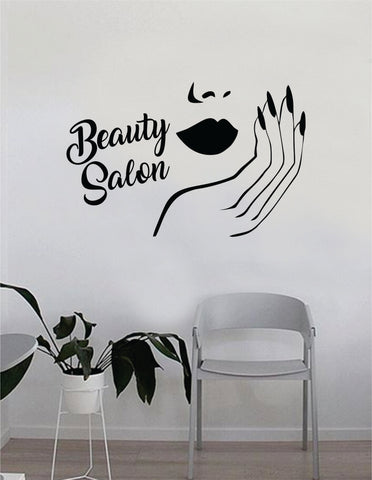 Marvelous Lips And Nails Beauty Salon Quote Beautiful Design Decal Sticker Wall U2013  Boop Decals