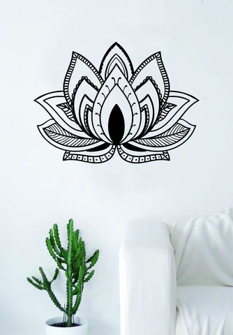 Lotus Flower V5 Design Decal Sticker Wall Vinyl Decor Art Namste Om Yoga Mandala Buddha