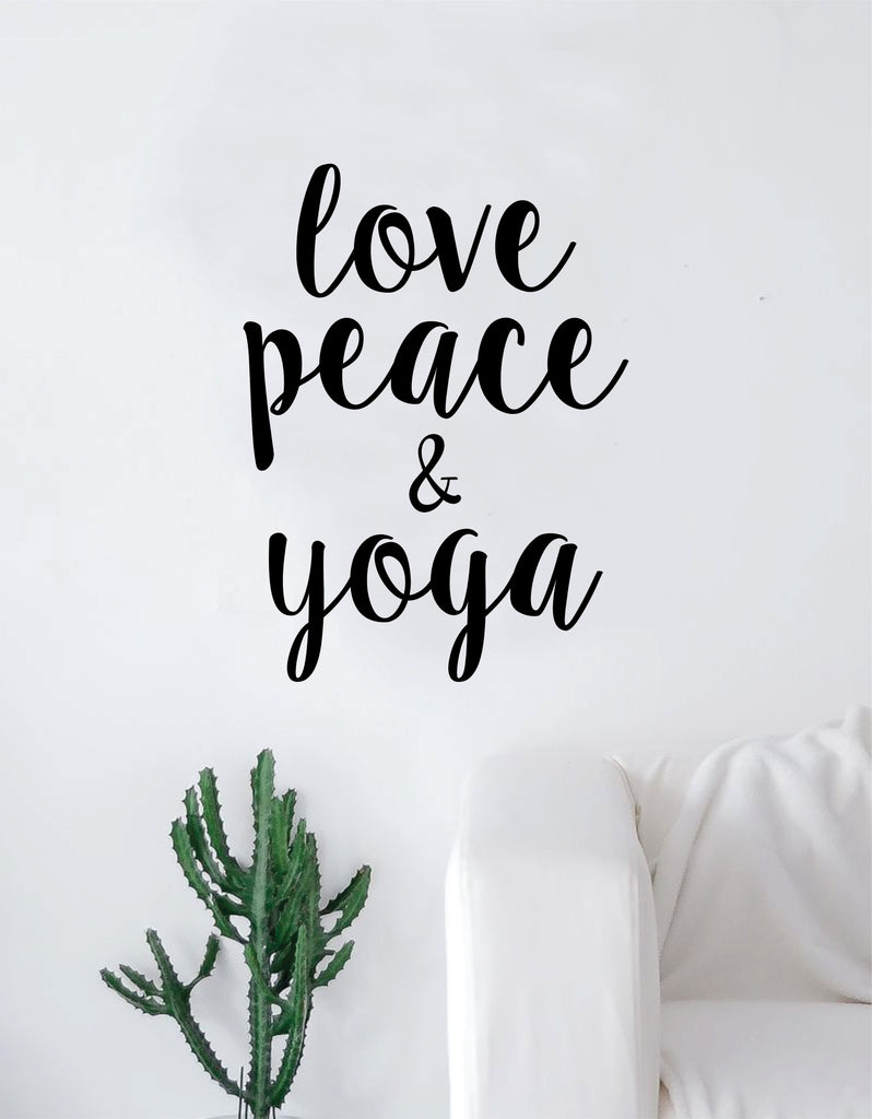 Love peace and yoga quote wall decal sticker room art vinyl inspiratio boop decals