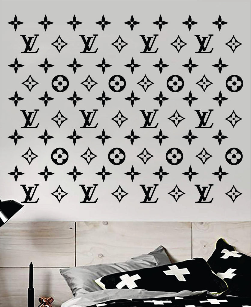 Louis Vuitton Logo Pattern Wall Decal Home Decor Bedroom Room Vinyl St Boop Decals