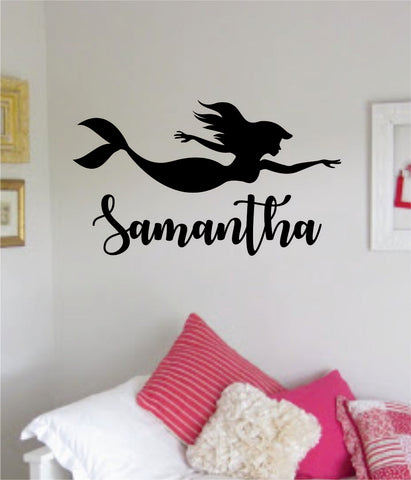 mermaid custom name wall decal sticker vinyl art bedroom living room